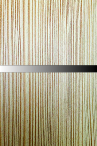 Close up showing texture and color of larch wood door finish